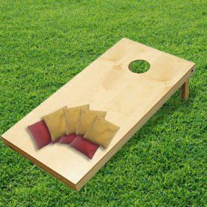 Cornhole spel gelakt - enkel platform